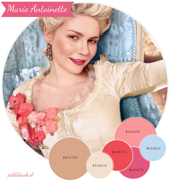 Color Palette Marie Antoinette Maria Antonieta by Pablo Lara H