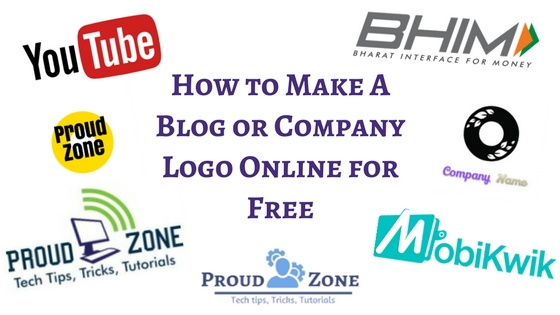 How to Make A Blog or Company logo for Free