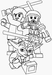 Ausmalbilder Lego Star Wars