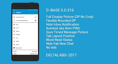 Kumpulan BBM MOD DELTA v3.3.0.16 APK Versi Terbaru No FC Bebas Iklan