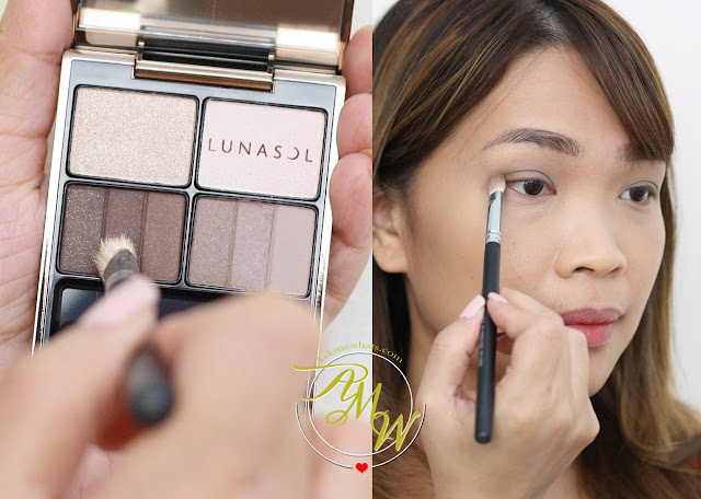 a photo on how to apply Lunasol Feathery Smoky Eyes in 03 Smoky Charcoal
