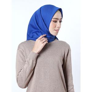Hijab Kerudung Segi Empat Basic Voal Umama Soft Blue