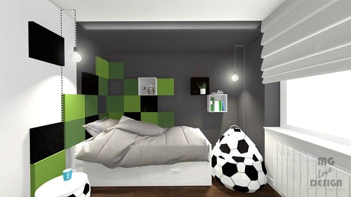 2 Pokój dla chłopca - piłka nożna - architekt wnętrz Nysa Głuchołazy