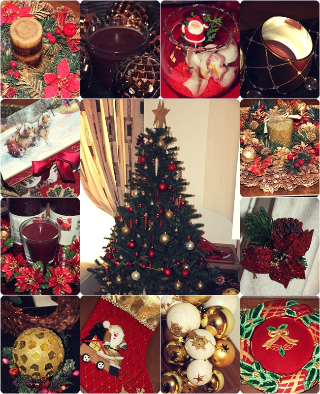 Red Christmas home decoration