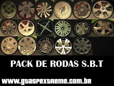 Pack de Rodas SBT para GTA San Andreas