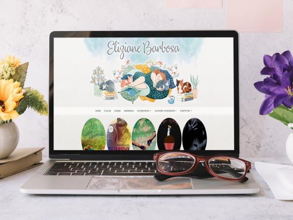 Layout Para Blog Literário - Conhecendo a  Nova Cara do Blog Eliziane Barbosa