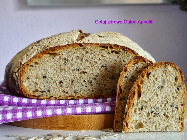 Chleb pszenny na zakwasie z mąką pełnoziarnistą  wg Jeffreya Hamelmana i kamień do pieczenia - Czytaj więcej »