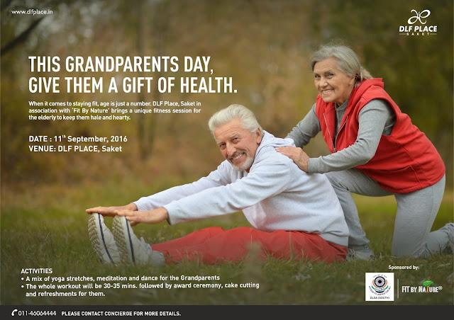 Grand Parents Day celebrations @DLF Place, Saket