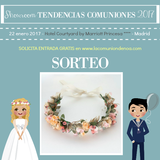 Sorteo Deminovias - Showroom Tendencias Comuniones 2017 - La Comunion de Noa