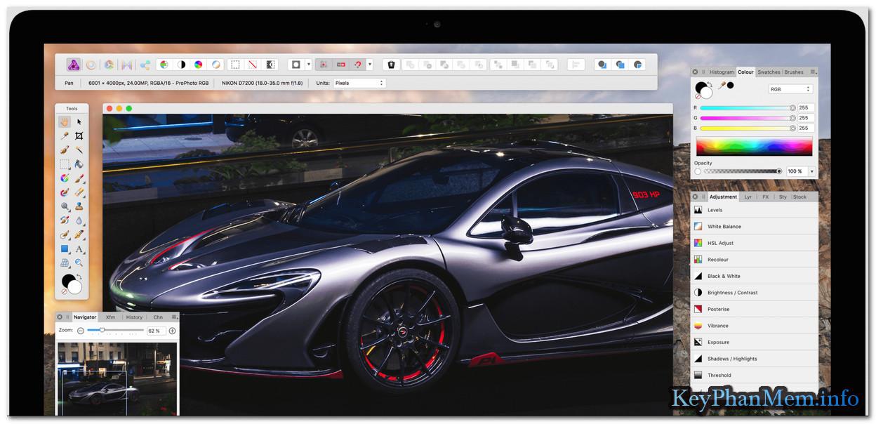 Download Serif Affinity Photo 1.6.4.104 Full Key, Phần mềm làm ảnh cho người chuyên nghiệp
