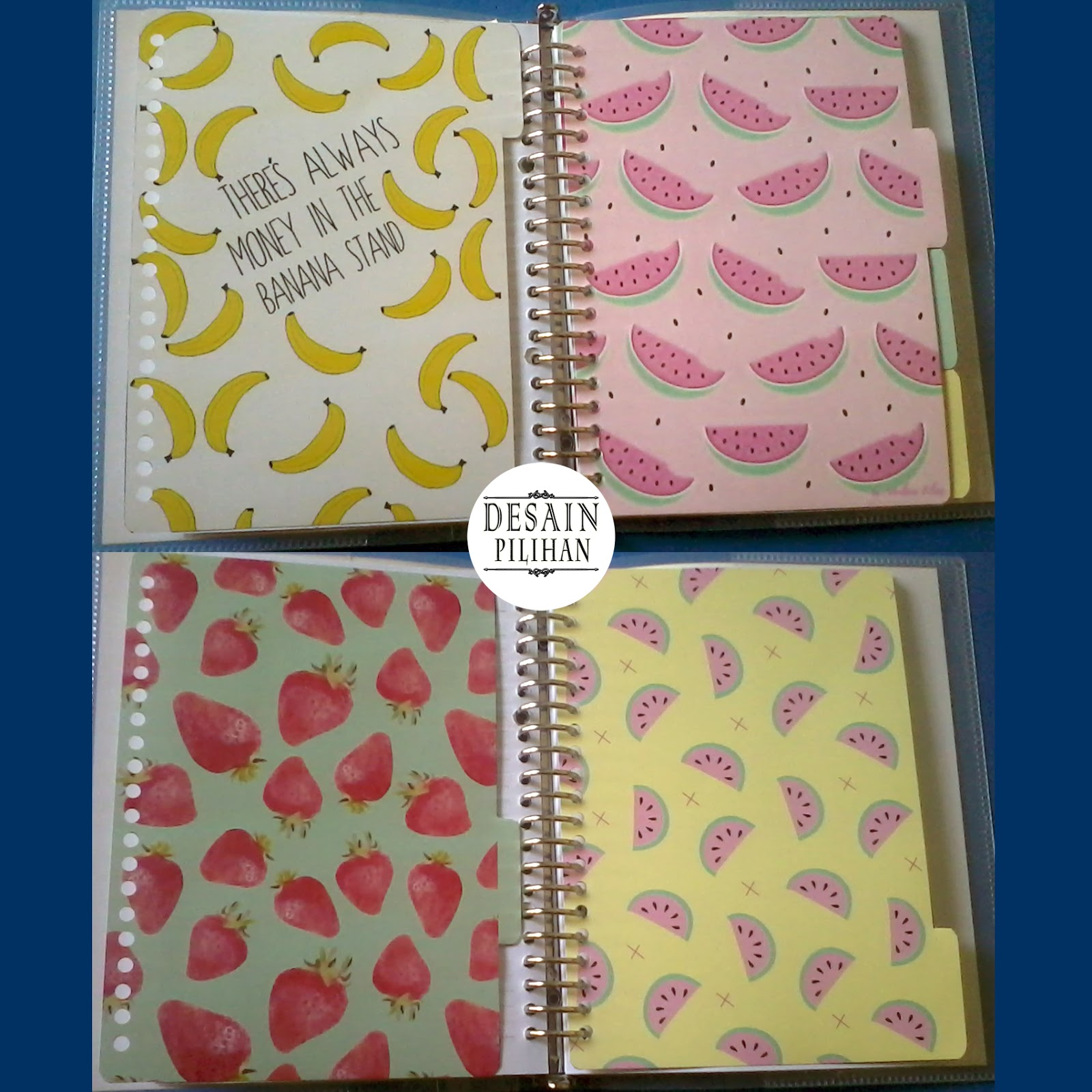 jual pembatas binder custom banana, pembatas binder custom watermelon