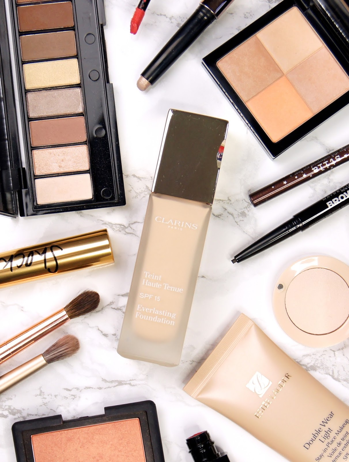 clarins everlasting foundation review swatches high coverage comfortable natural no caking