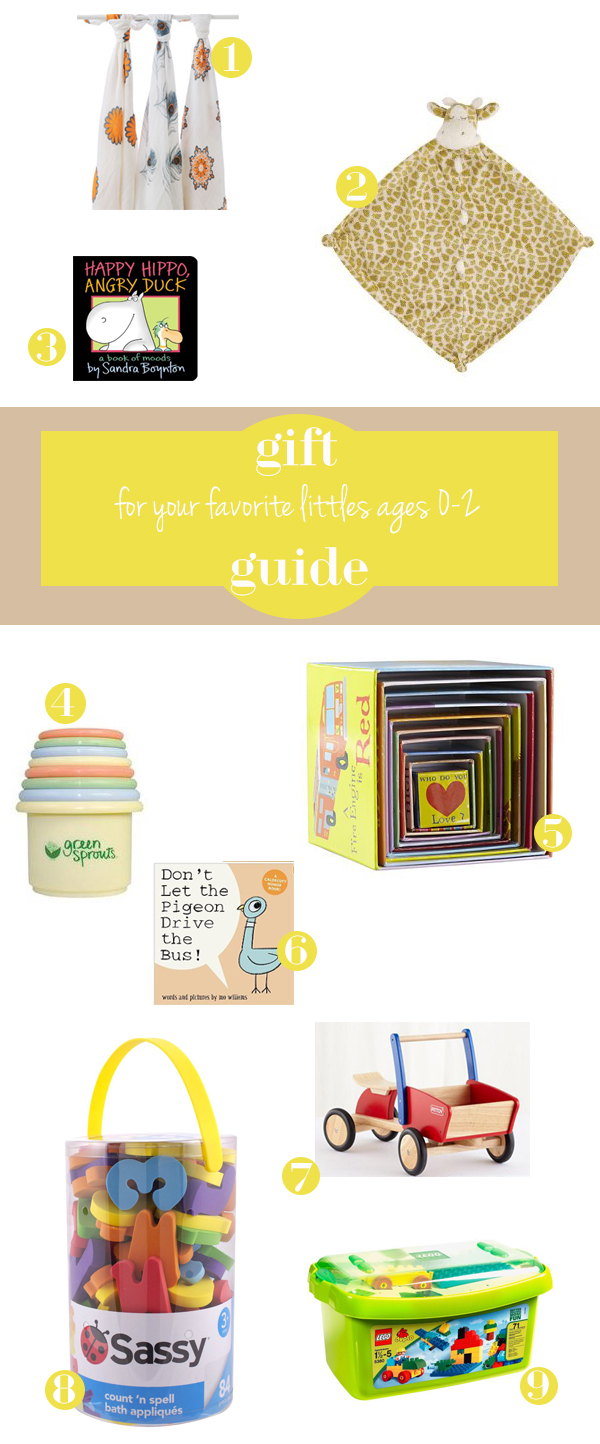 gift guide for littles ages 0-2 from oh lovely day