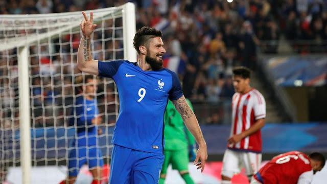 Giroud Hat-trick, Prancis Taklukkan Paraguay Dengan Skor 5-0
