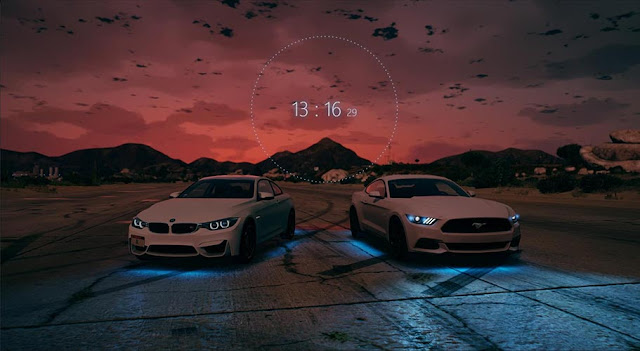 BMW vs Ford Mustang Wallpaper Engine
