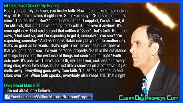 Faith says God said so and that settles it - William Branham Quotes