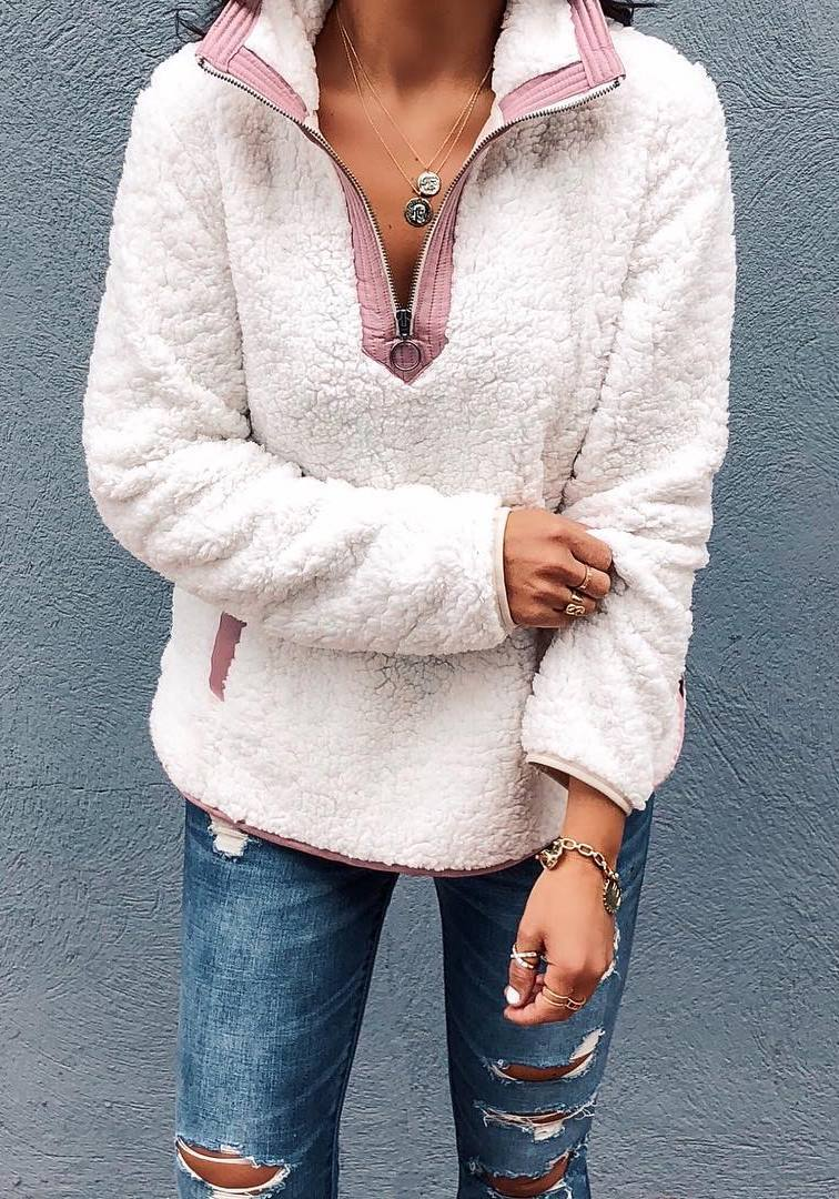 ootd_ripped jeans and sweater
