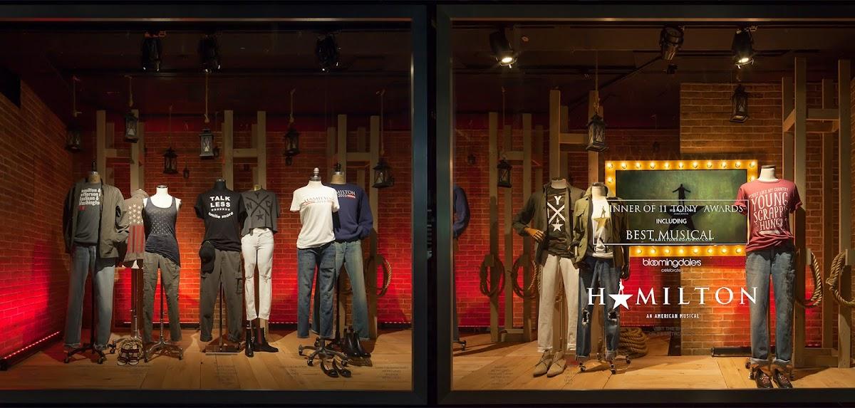 mannequins wearing Hamilton gear