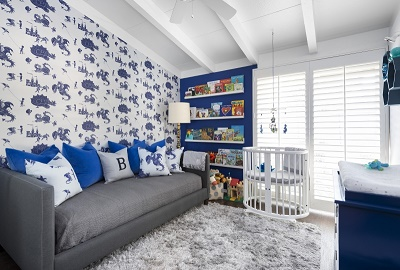 Dormitorios en azul para beb s dormitorios colores y estilos for Cuartos pintados de azul