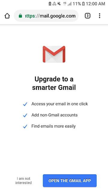 Go to inbox