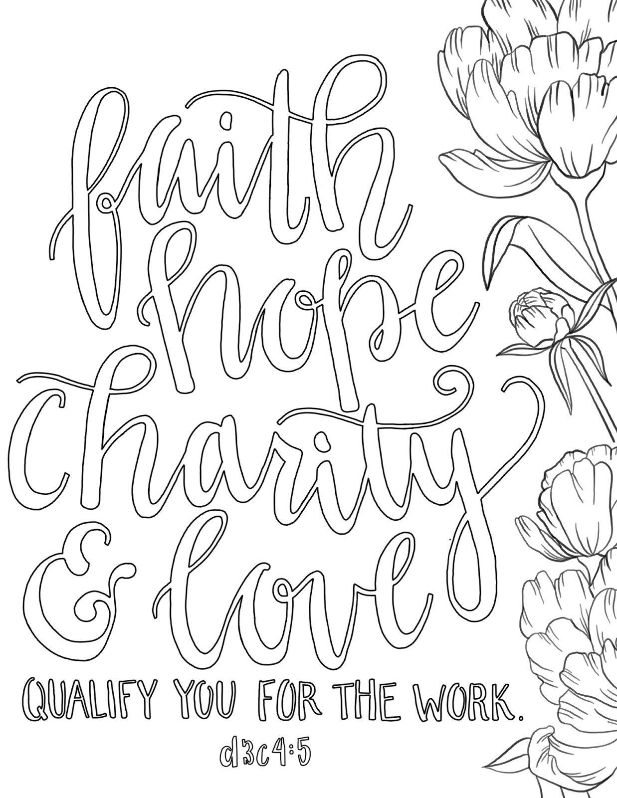 just what i {squeeze} in: Faith, Hope, Charity & Love