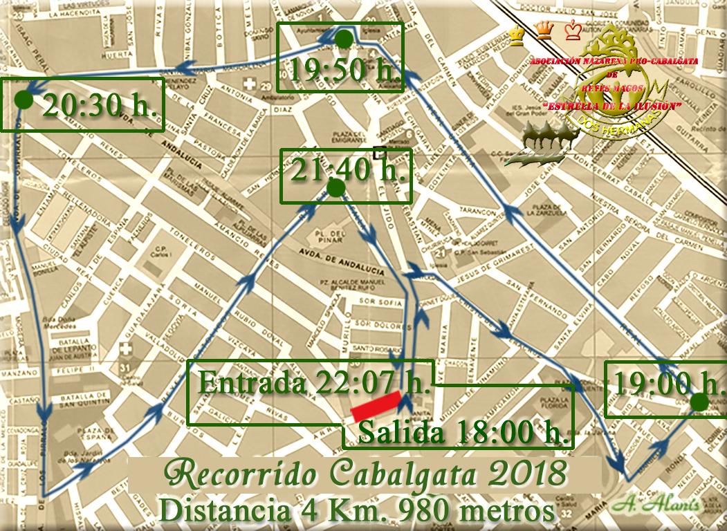 Itinerario Cabalgata 2018