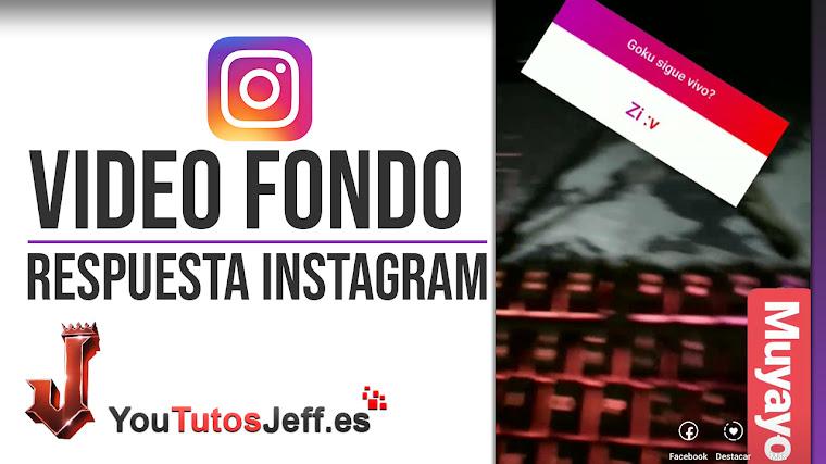 Poner Vídeo de Fondo en Respuesta Storie de Instagram - Trucos Instagram