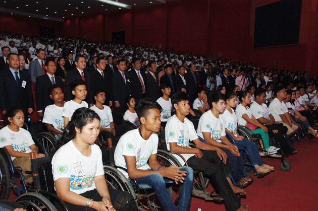 Célébration de la Journée nationale et internationale des personnes handicapées. Photographie : Hun Yuthkun - AKP