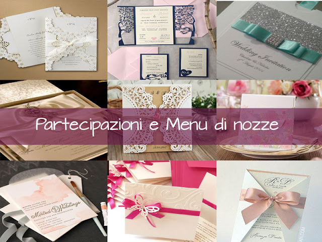 Partecipazioni e menu di nozze