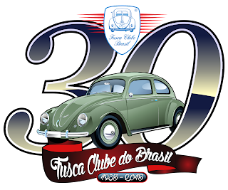 Logo van 30 jaar Fusca Club Brazilië. Bron: https://mauriciomorais.blogspot.com/2015/06/30-anos-fusca-clube-do-brasil.html
