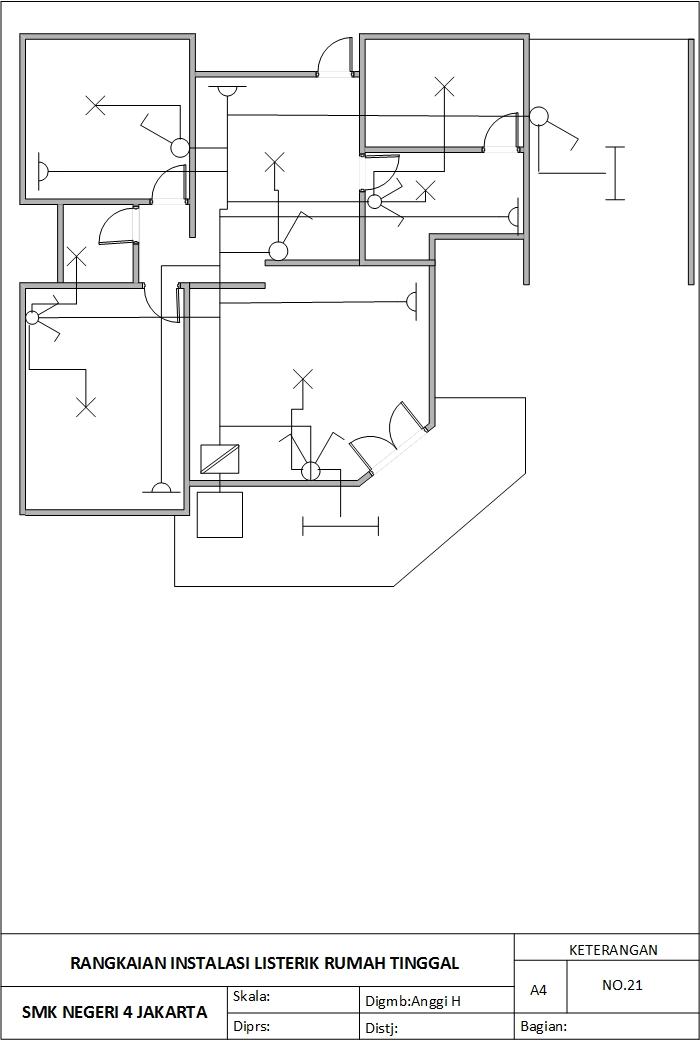 Gambar Teknik Listrik Menggunakan Visio Instalasi Listrik