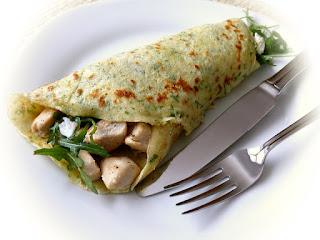 idée recette party crêpe aux fines herbes, viande