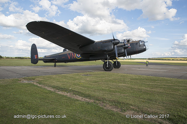 BBMF Lancaster Taxi for take off