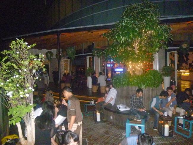 El Bar Skye de noche