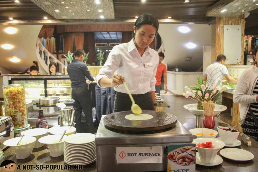 Crepe Station of The Buffet International Cuisine