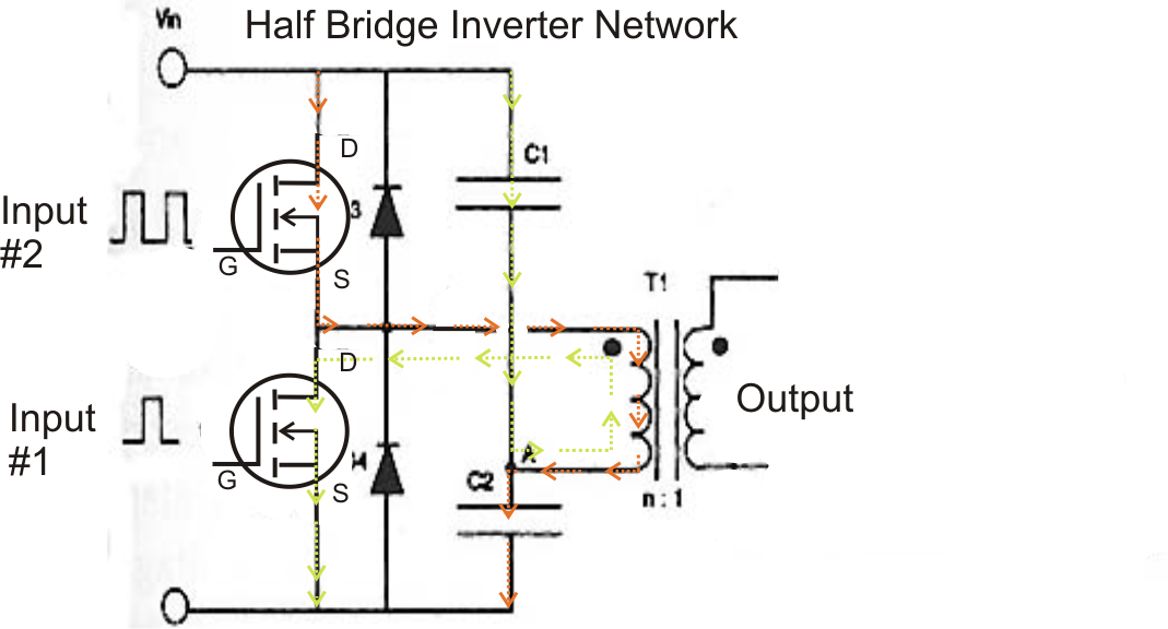 simple low power inverter circuit 12v dc to 230v or 110v ac