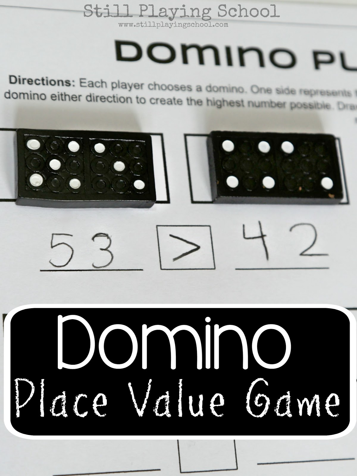 Dominoes Place Value Game For Kids