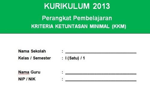 KKM PJOK Kelas 1 Semester 1 Kurikulum 2013 Edisi Terbaru