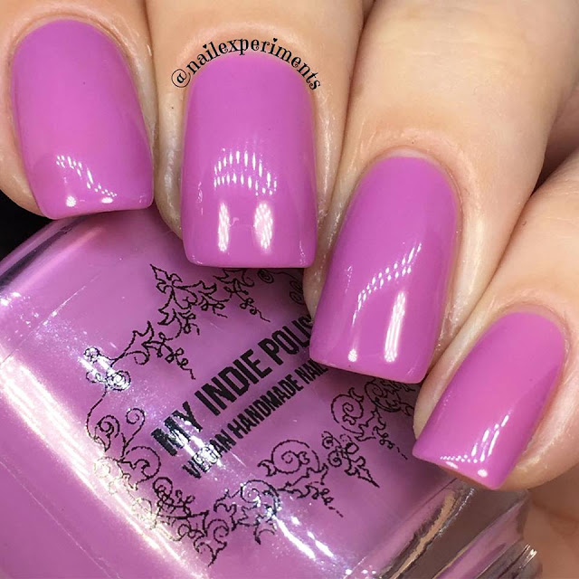 my indie polish the pinks collection polish in mauve over pink