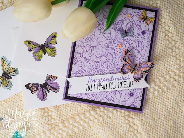 Ensemble de cartes avec le jeu Gala de papillons Stampin' Up!
