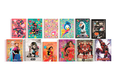 Volta às Aulas 2018 Cadernos Disney Lançamentos
