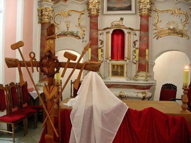 ołtarz, kościół, Wielka Sobota, męka
