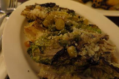 Caffe Fernet, charred gem lettuce