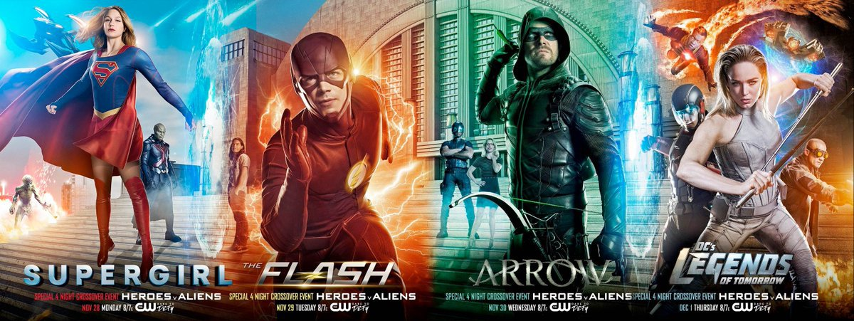 Macrocrossover DC CW Invasion Arrow Supergirl The Flash Legends of Tomorrow