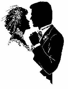 Couples in Love Silhouettes.