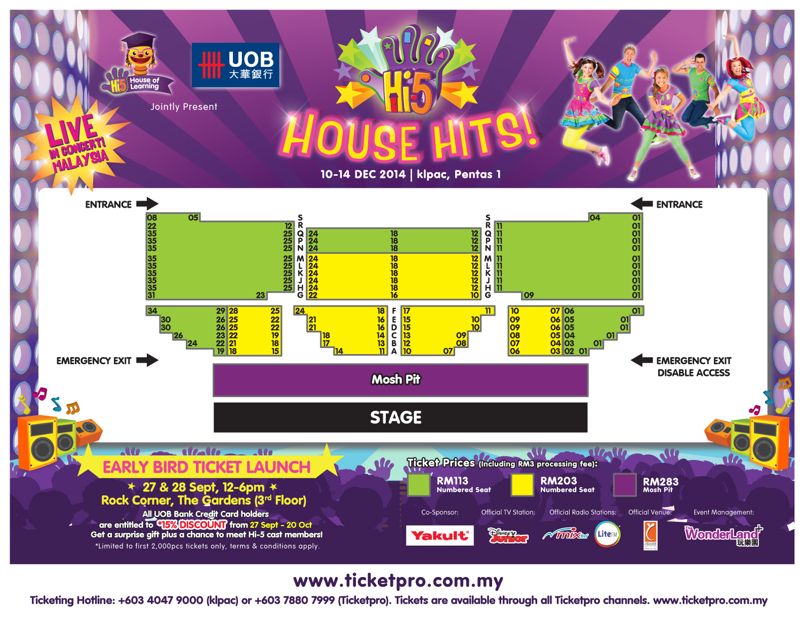 HI-5 HOUSE HITS 2014 LIVE IN MALAYSIA Seating Plan