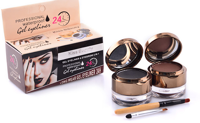 KISS BEAUTY EYELINER & EYEBROW Profesional Waterproof