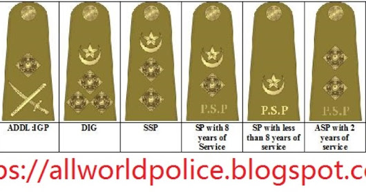 POLICE OFFICERS RANKS IN ORDER PAKISTAN