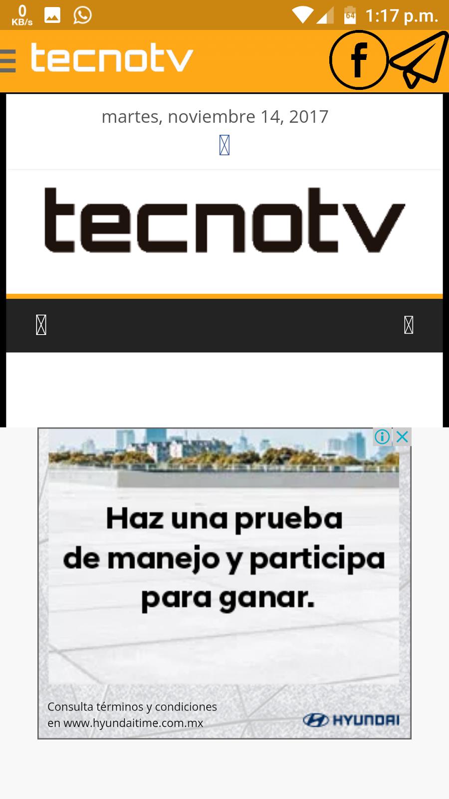 Tecnotv Para Android / Apk / Canales de TV /