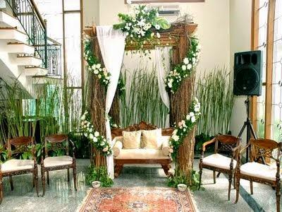 jasa dekorasi bunga pernikahan di rumah